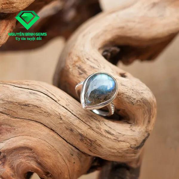 Mặt Nhẫn Đá Labradorite