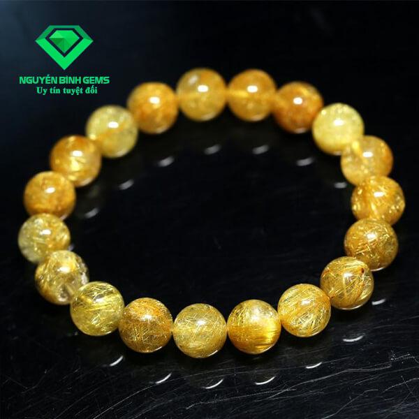 Vòng Tay Thạch Anh Tóc Vàng