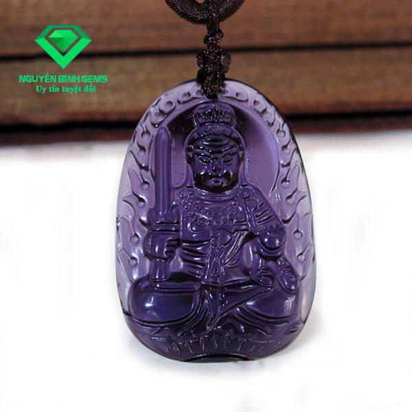 Phật Bản Mệnh Thạch Anh Tím